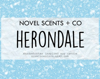 Herondale - Shadowhunters inspired soy candle