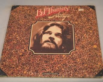 Vintage Gatefold Record BJ Thomas: Songs Album PAS-6052