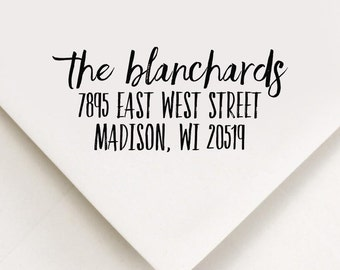 Return Address Stamp, Custom Stamp, Self Inking Stamp, Wedding Address Stamp, Custom Address Stamp, Housewarming Gift, Faith and Glory