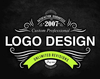 Logo, Logo Design, Custom Logo, Feminine Logo, Photography Logo, Vintage Logo, Retro Logo, whimsical logo, Hand drawn Logo, Chalkboard Logo