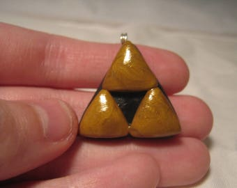 Legend of Zelda Triforce Clay Charm