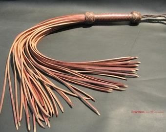 Flogger-belt. Strict Flogger, leather bdsm flogger, leather whip, flogger 18 Tails, Fetish leather flogger
