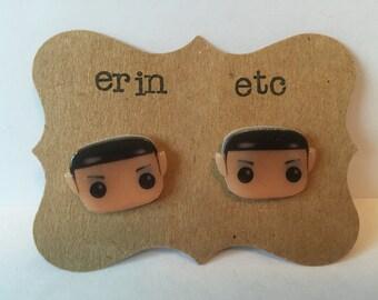 Handmade Plastic Fandom Earrings - Star Trek - Spock