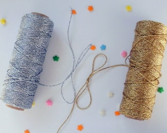 Metallic Gold or Silver Bakers Twine - Your choice