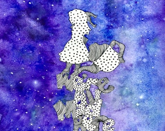 We're All Made Here 8x10 Galaxy print