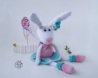 Easter  bunny Amigurumi bunny doll Softie knitting Bunny Knit Rabbit DIY knitted toy Stuffed bunny Animal Easter decoration Gift for child