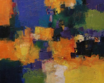 March 2014 - 4 - Original Abstract Oil Painting - 45.5 cm x 38.0 cm (app. 17.9 inch x 14.9 inch)