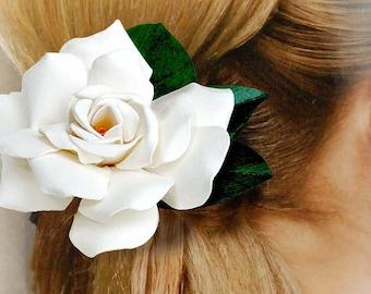 Large Gardenia Hair Clip