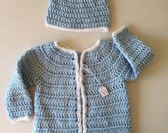 Baby Blue Sweater Set