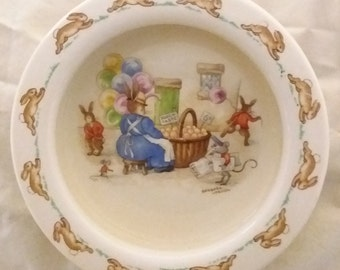 Vintage Royal Doulton Bunnykins Bowl