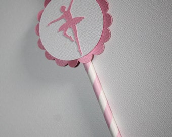 Ballerina party straws , Ballerina party, Straws, Set of 12 , Ballerina set straws