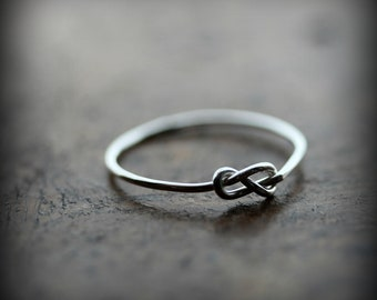 Infinity knot ring - recycled sterling silver promise ring - bridesmaid gift
