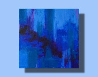 Small abstract painting modern design contemporary art