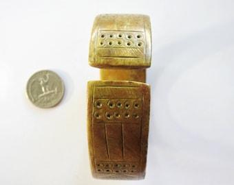 Antique African Brass Bangle/Cuff