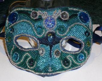 Design your own MASK- OOAK handmade bead embroidered masks made to order