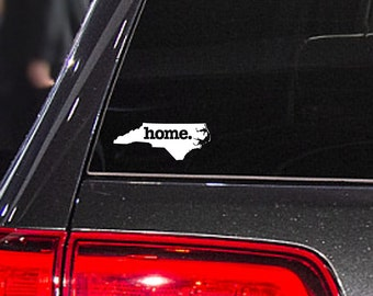 North Carolina Home. Decal Car or Laptop Sticker