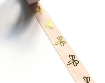 Gold foil bow washi tape