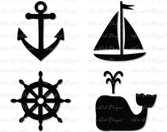 Nautical Bundle SVG DXF PNG for Cameo Cricut & other electronic cutters