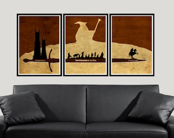 The Lord Of The Rings Minimalist Inspired Posters Collection, Lord Of the Rings Poster, Movie Poster, LOTR, The two towers, The fellowship