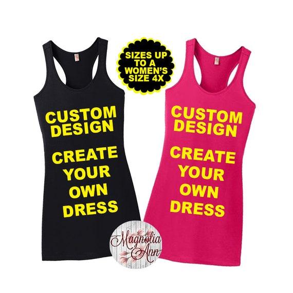 Custom Design, Women's Racerback Dress, Swimsuit Cover Up, Beach Cover Up, Plus Size Dress, Plus Size Beach Cover Up, Plus Size Clothing