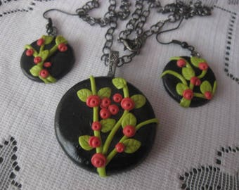Pendant Necklace and Earrings
