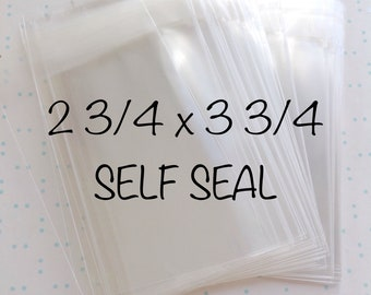 100 2 3/4 x3 3/4 self seal resealable cello bags cellophane