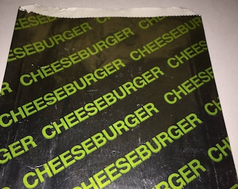 50 PERSONALIZED Foil Paper Cheeseburger Bags