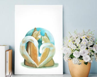 Fluffy Love Art Print - Fluffy Love Poster - Fluffy Love Gift - Fluffy Love Decor/Room Wall Art