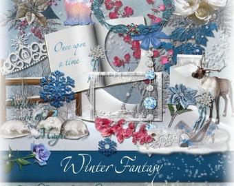 Christmas & Winter Digital Scrapbooking Kit