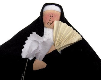 Mature woman gift, funny menopause doll, gag retirement gift, gift for middle aged woman, 50th birthday gift, Sister Esther Jen