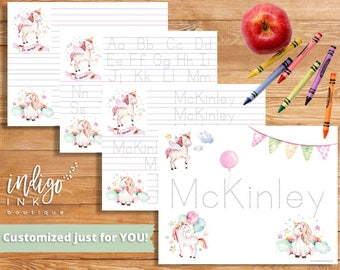 Handwriting Worksheet DIGITAL | Name Writing | Kindergarten | Homeschool Printable | Handwriting Practice | Preschool Alphabet Worksheet
