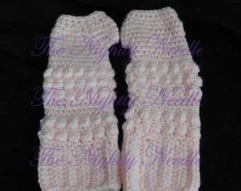 Puffy (Finger-less) Gloves Crochet Pattern-Instant Download