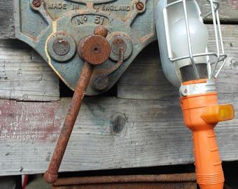 Industrial vintage Orange cage lamp