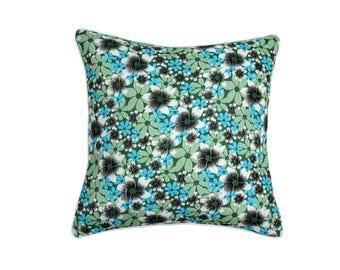 """""""Mint"""" floral reversible pillow"""