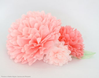Paper Peony Centerpiece - Illuminated Coffee Filter Flower Trio