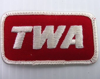 """TWA Airline Employee Embroidered Patch Sew On New Unused 3"""" x 1.5"""" Vintage"""