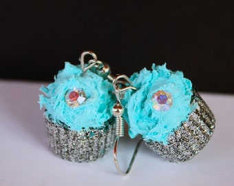 Breakfast at Tiffany's cupcake earrings