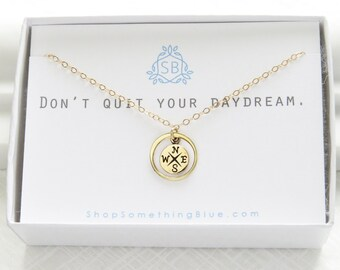 Compass Necklace • Compass Rose Charm • North Star • Inspirational Jewelry • Graduation Gift • Compass Jewelry • Encouragement