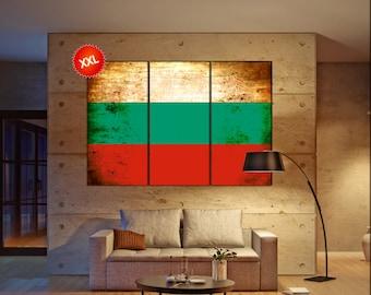 Bulgaria flag canvas wall art art print large  canvas wall art print Bulgaria country flag Wall Home office decor interior Office Decor