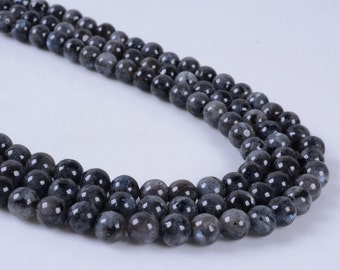 6MM255 6mm Larvikite round ball loose gemstone beads 16""