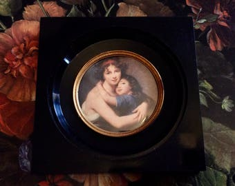 Mini frame with print of painting style Bouguereau