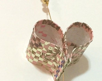 Pink Gold Hearts Hanging