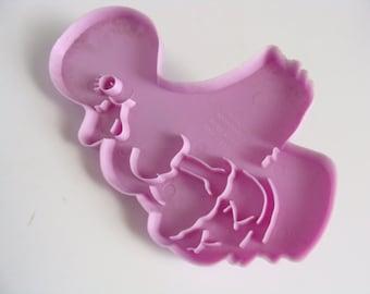 Vintage Wilton Large Lavender Duck Imprint Cookie Cutter