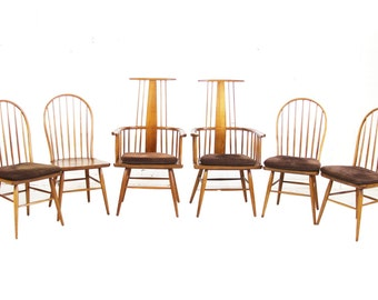 Kipp Stewart for Drexel Heritage Mid-Century Modern Dining Chairs from the RARE Sun Coast Collection
