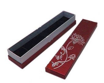 1 x red/silver - Bracelet - Lotus jewelry box