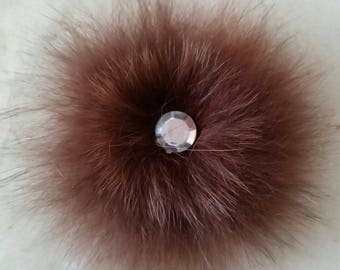 applique fur of Fox Brown 6 / 7cm