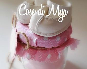 Chalk shoes smelling Birth/Battesimo