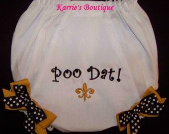 Saints Diaper Cover / Fleur de lis / Saints Baby / Black  & Gold / Newborn / Infant / Baby / Girl / Toddler / Custom Boutique Clothing