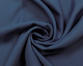 """Navy 60"""" Poly Crepe Fabric by the Yard - Style 3060"""