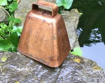 Vintage Bell, Vintage Cow Bell, Vintage Goat Bell, Rustic Decor, Copper Bell, Decorative Bell, Vintage Copper Goat Bell, Animal Bell